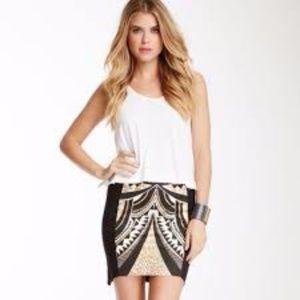 MINKPINK 'Cleopatra' Black Gold Miniskirt